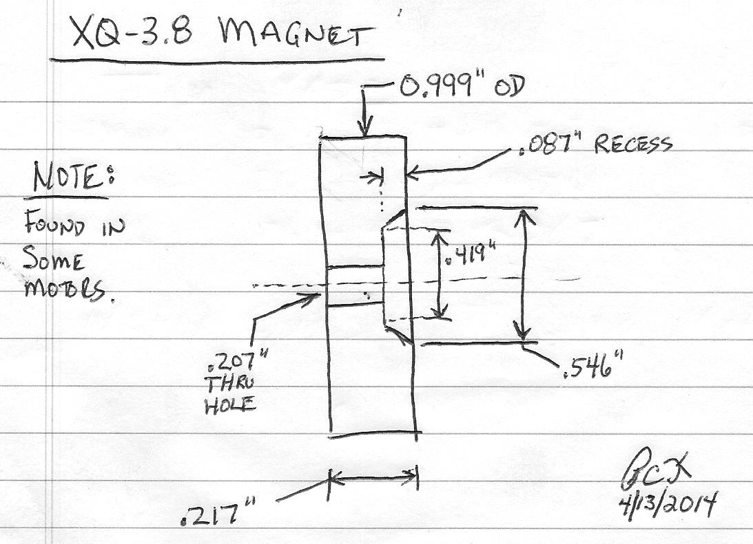 Magnet and Speed Sensor for XQ-3.8